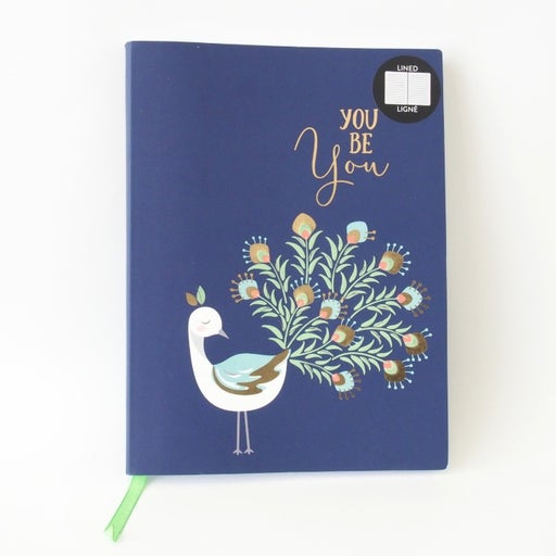 Artist's Loft Peacock Lined Journal 6x8in, 96 Lined Sheets with Satin Ribbon NEW