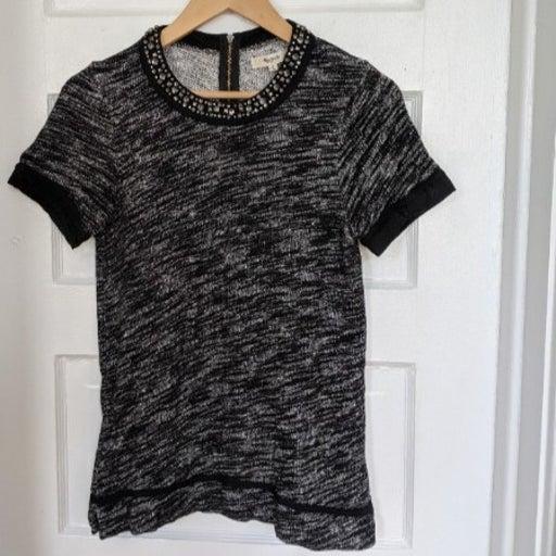 Madewell Sparkletrim Sweatshirt T-Shirt Top