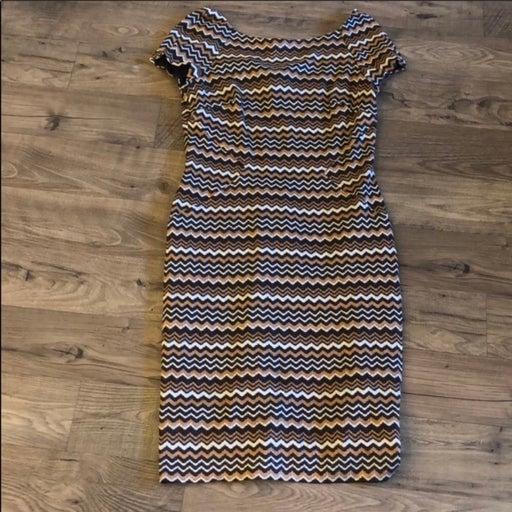Tahari Isabella DeMarco Striped Dress Size 10