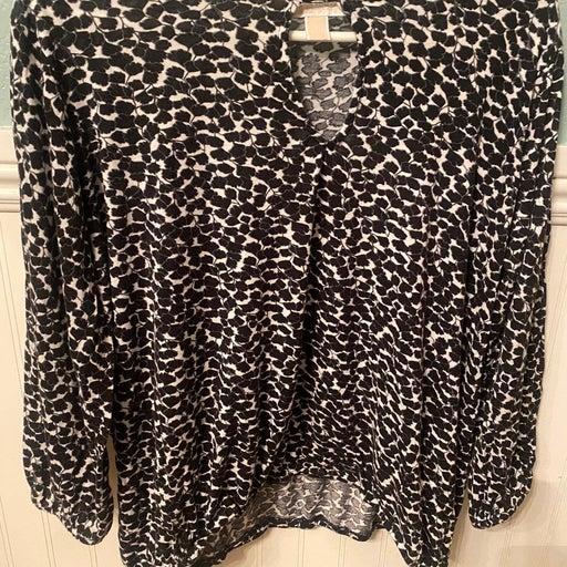 MICHAEL Michael Kors size large long sleeved blouse