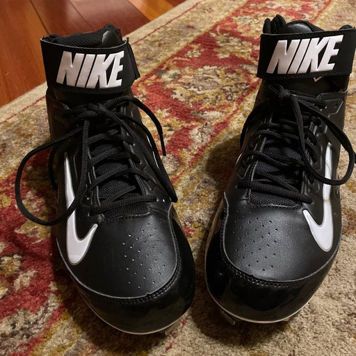 Nike Huarache Strike Mid Metal Baseball Cleat 615965-010 - size 12