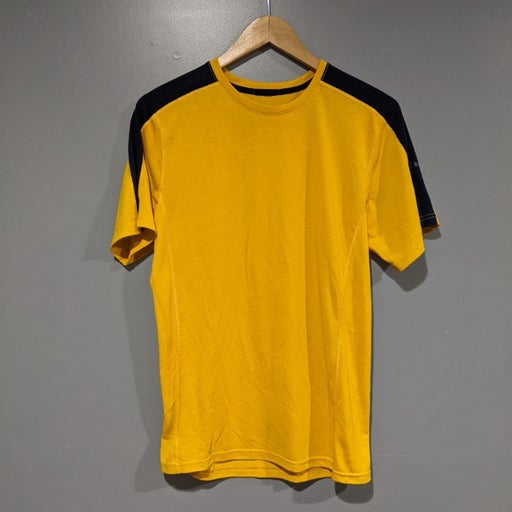 Brooks yellow blue activewear shirt