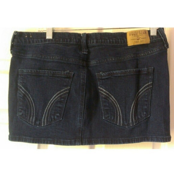 Hollister Jean Skirt Micro Mini Blue