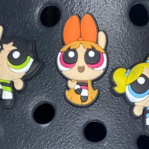 powerpuff girls croc pins