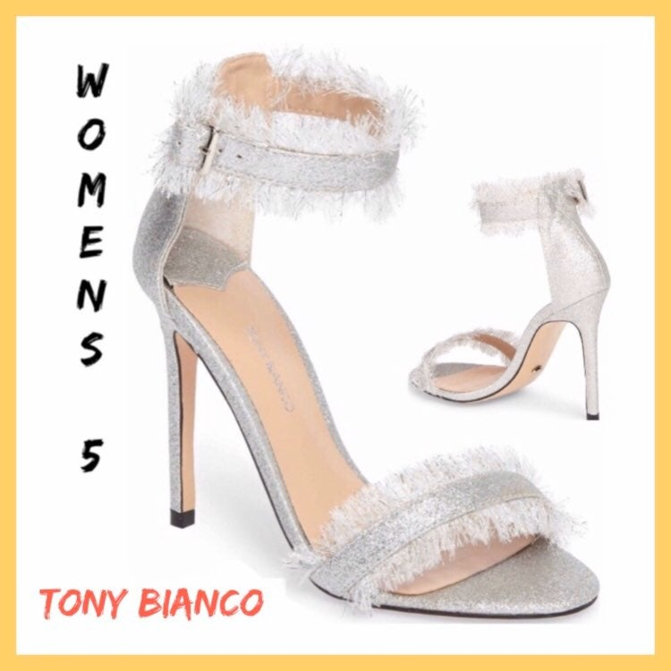 *New Tony Bianco Silver Kimi Stiletto Sz