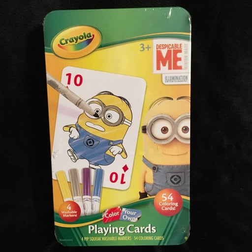 DespicableMe Playing Cards you color