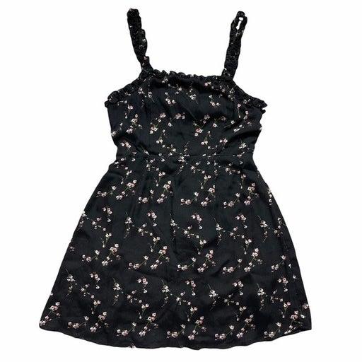 Lulu's Black & Pink Floral Print Mini Dress S
