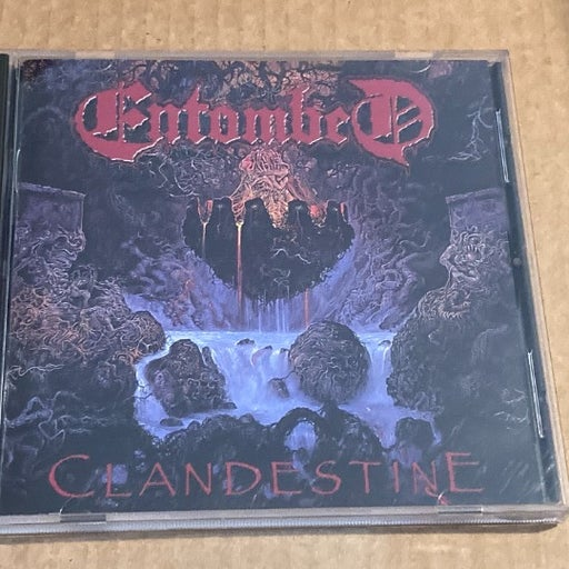 "Entombed ""Clandestine"" CD, Earache, 1991"