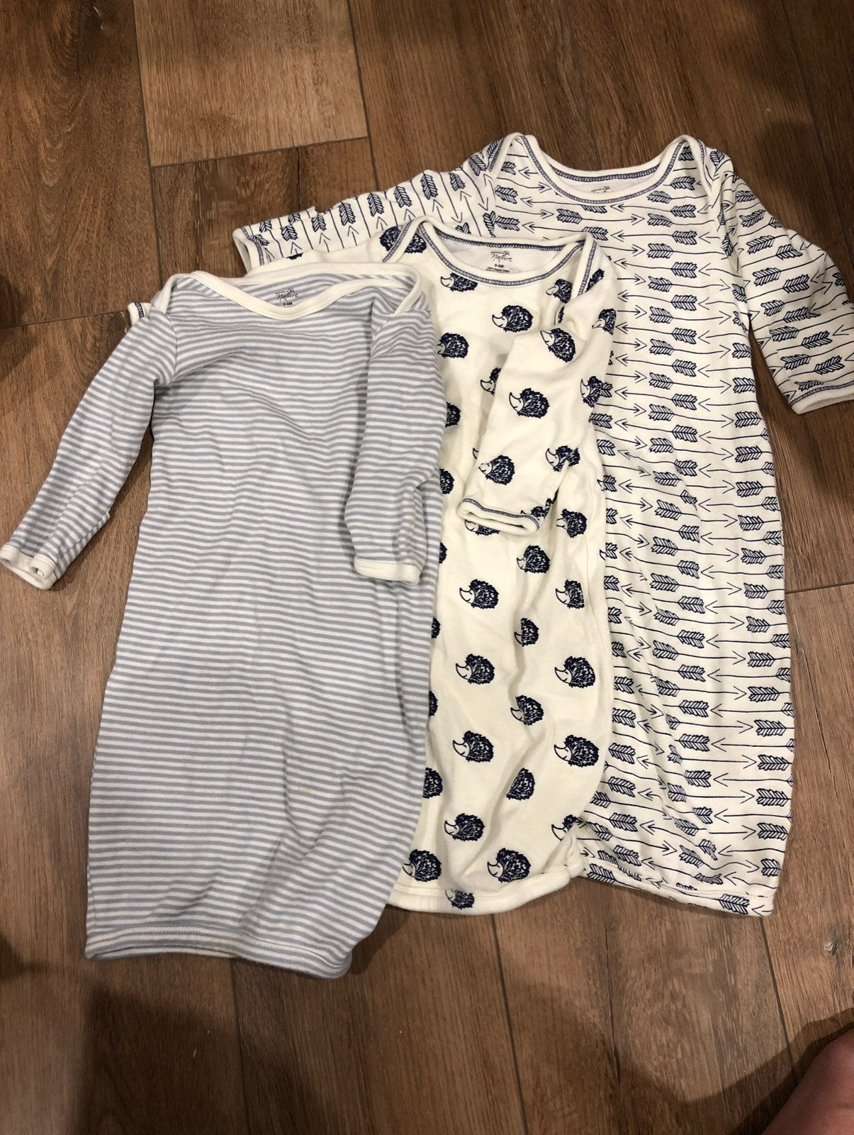 Infant sleeper gowns set of 3