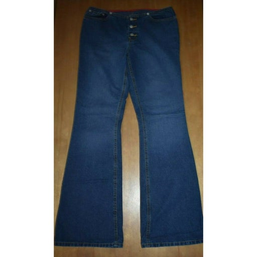 Womens Vintage Ralph Lauren Exposed Button Fly Jeans 9/10 9 10 Polo Flare