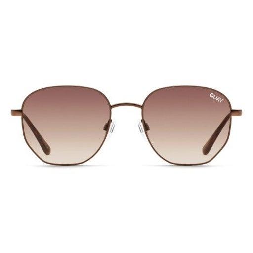 NWT Quay Big Time 48mm Gradient Round Sunglasses Bronze / Brown