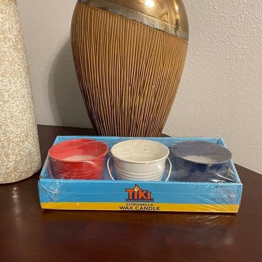 RARE Tiki Citronella Wax Candle