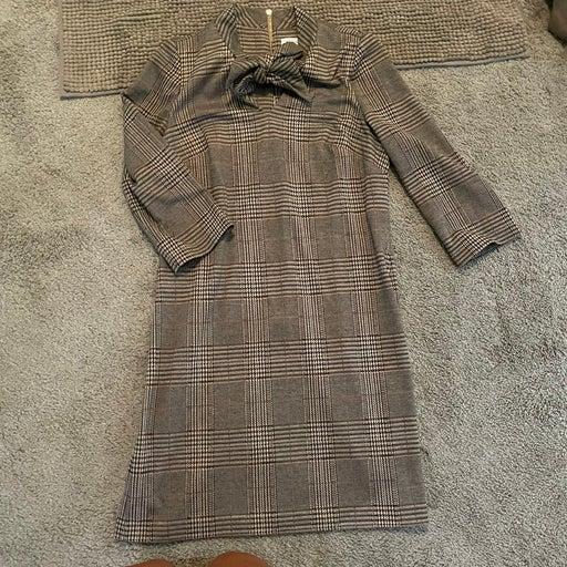 Calvin klein brown plaid dress sz 10