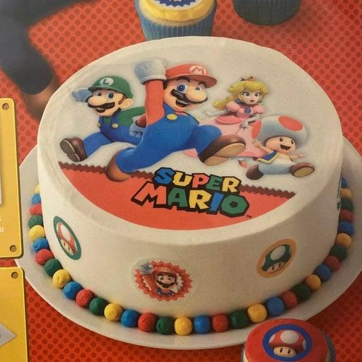 Super Mario birthday cake DIY wilton