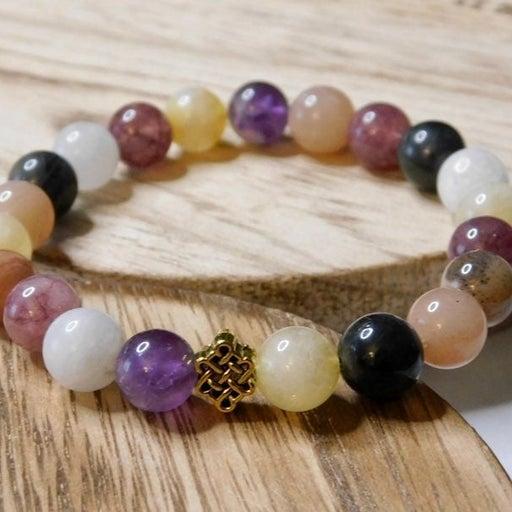 Crystal Power Combo Stone Bead Bracelet