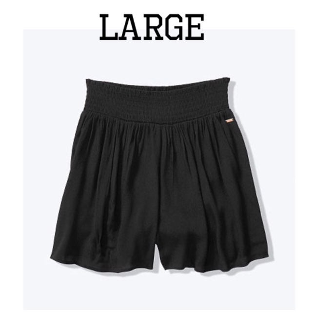 VS Pink Black Smocked Shorts