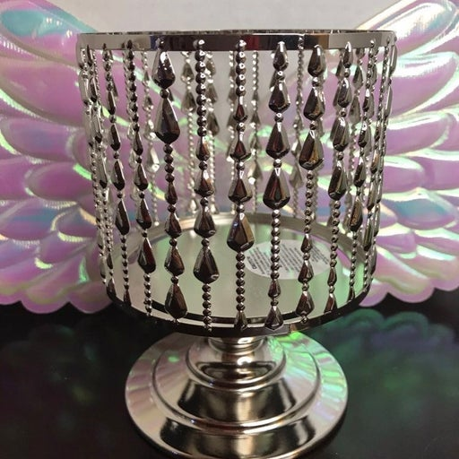 BBW Silver drop 3 wick candle pedestal