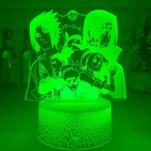 3D Lamp Naruto Sasuke  LED Night Light Action Figure 7 Colors Touch &2 FIGURE