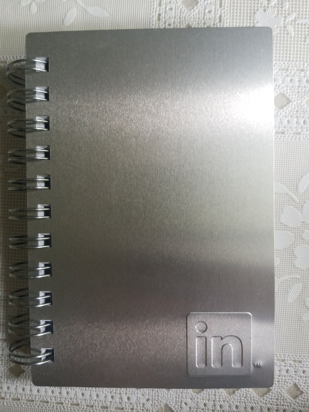 Metal cover gridpaper notebook