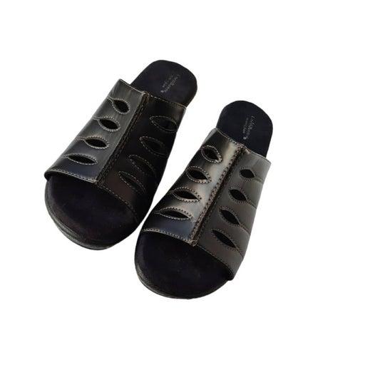 Croft & Barrow Memory Foam Slides Black