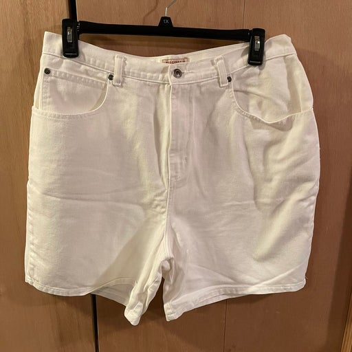 Women's, White Jean Shorts