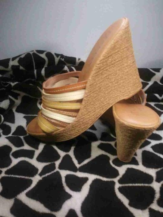 Italian Shoemakers Sz 9 Leather Wedges