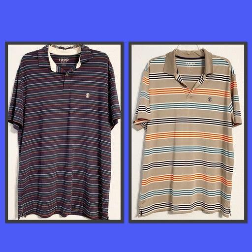 Lot of 2 Izod Golf Polo Shirts Large