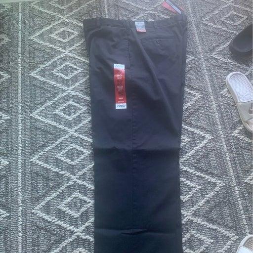 38/34 Izod black mens dress pants