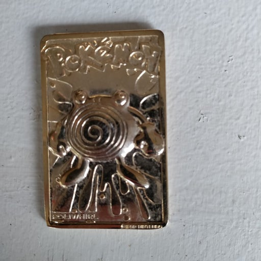 Pokemon 23K gold plated trading card