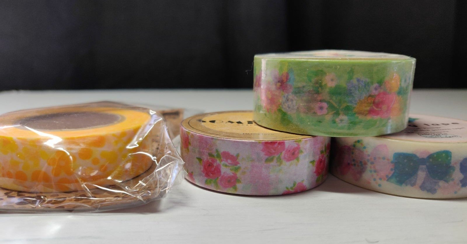 Washi lot of 4 floral