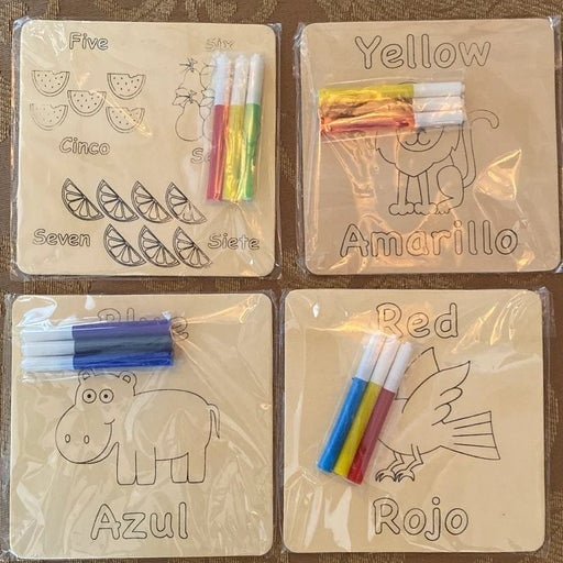 Kids craft and learn boards