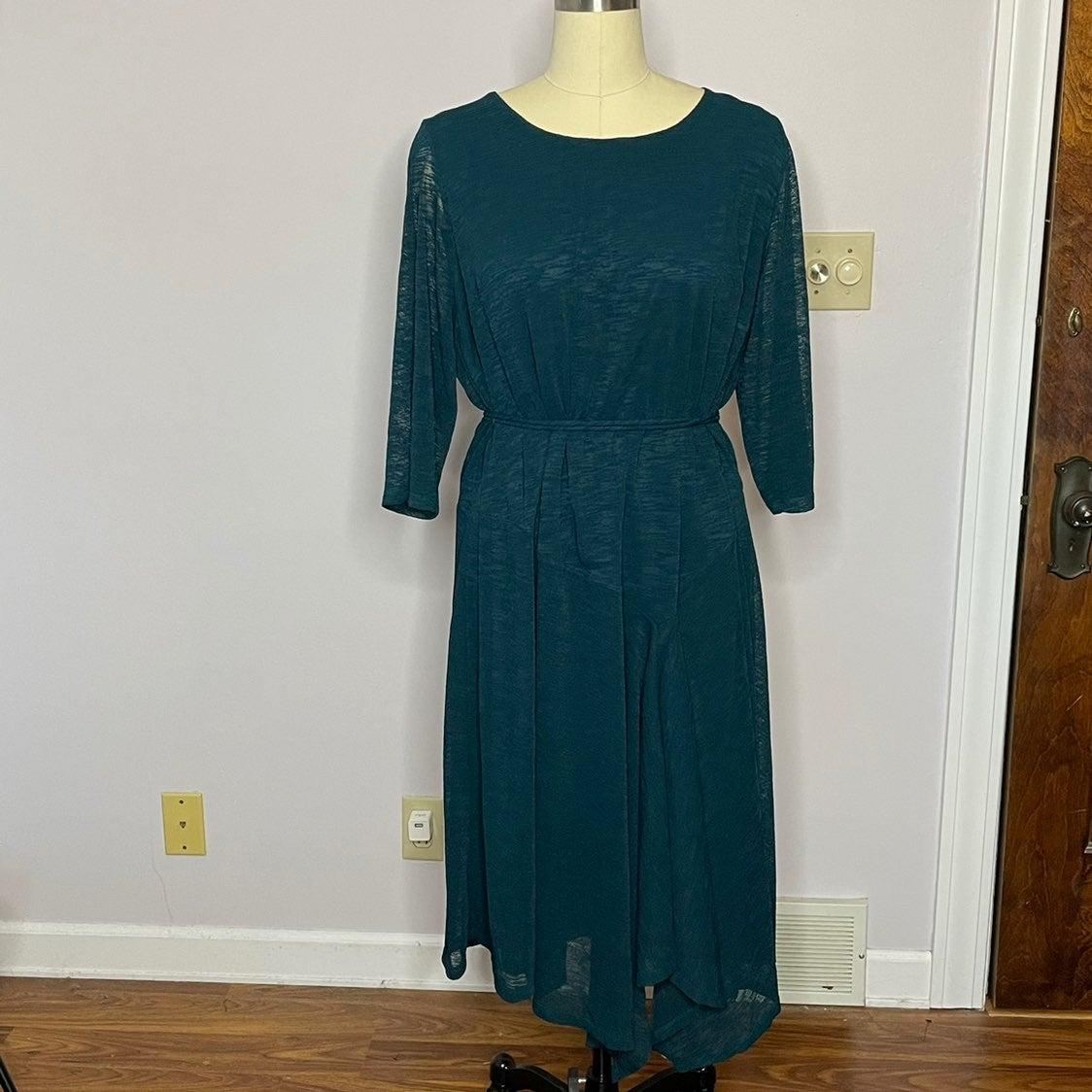 Catherine's Dark Teal Belted Dress