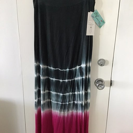 Womens NWT  Bathing Suit Coverup, strapless maxi dress