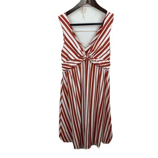 Patagonia Striped Orange Midi Dress