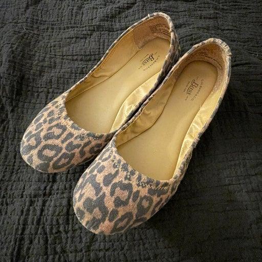 Bass leopard print flats