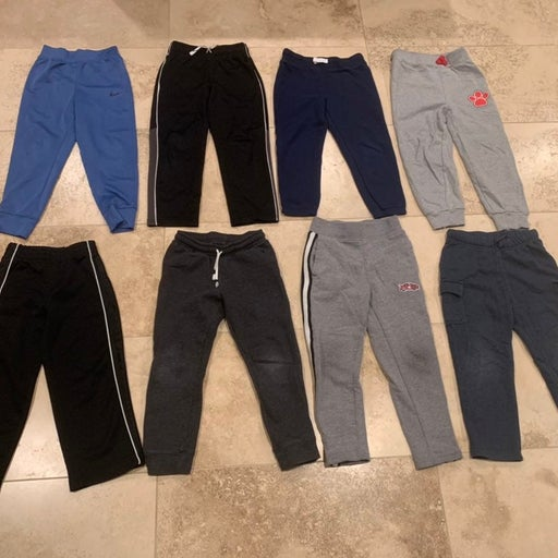 8 PAIRS of Boys Athletic Sweat joggers Pants size 5T 5