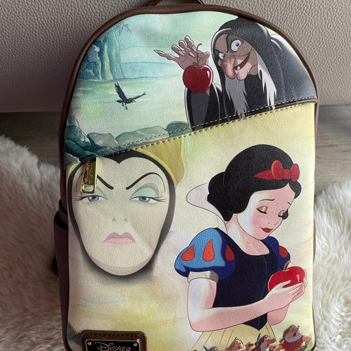 Loungefly Snow W/Evil Queen PALM Backpac