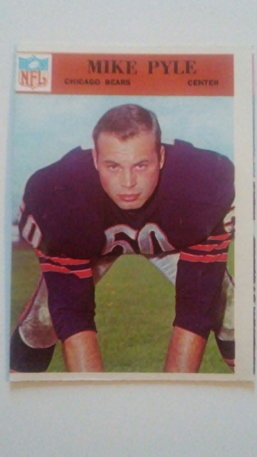 1966 Mike Pyle football card