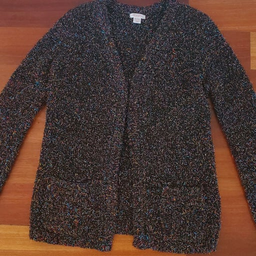 Cardigan sweater with sparkle