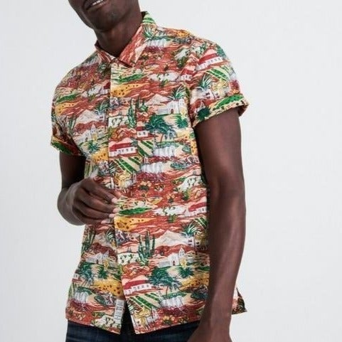 Lucky Brand Pueblo Club Collar Shirt