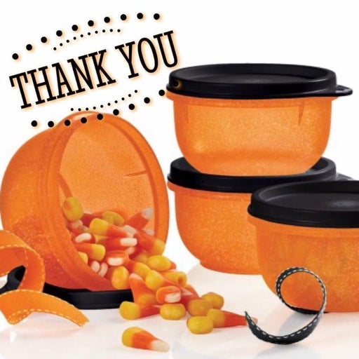Tupperware Ideal bowl snack for Halloween