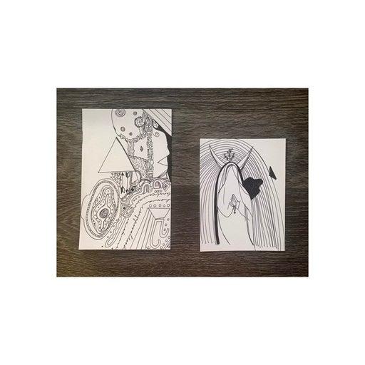 Handmade psychedelic pen drawings