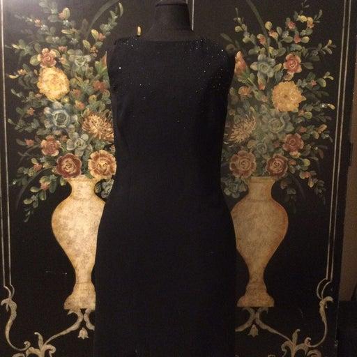 Jones New York Black Embellished Dress
