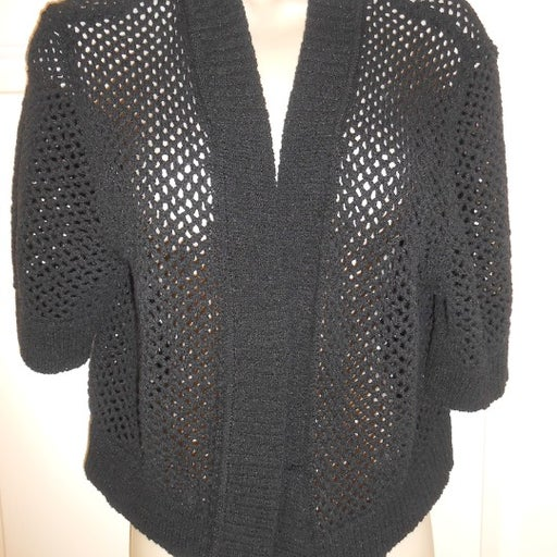 Cute Black Croft & Barrow Shrug Sweater Top size XL