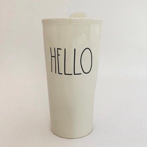 "Rae Dunn ""Hello"" Ceramic Artisan Tumbler"