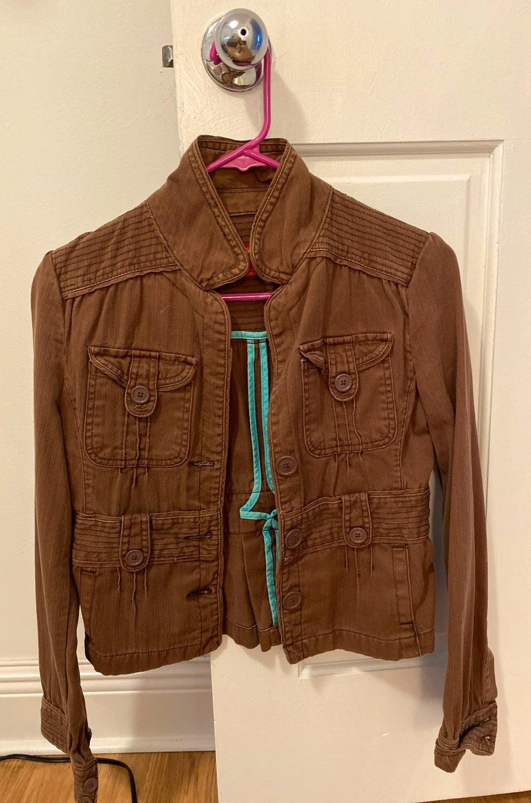 Mossimo Mid-Crop Utility Jacket Size Sma