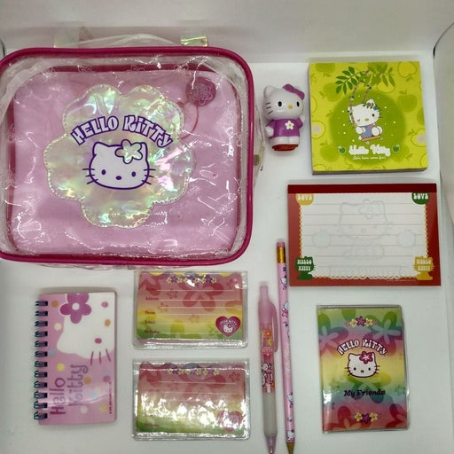 Hello Kitty Sanrio Stationary 10pc Set