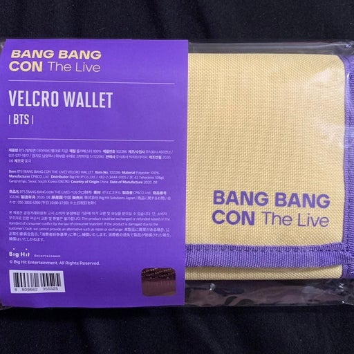 BTS Bang bang Con Velcro Wallet