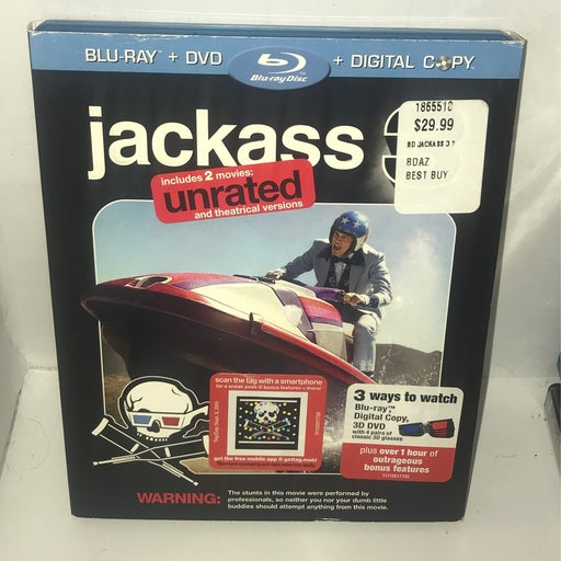 Jackass 3 BLU-RAY/DVD - 3D Glasses Included