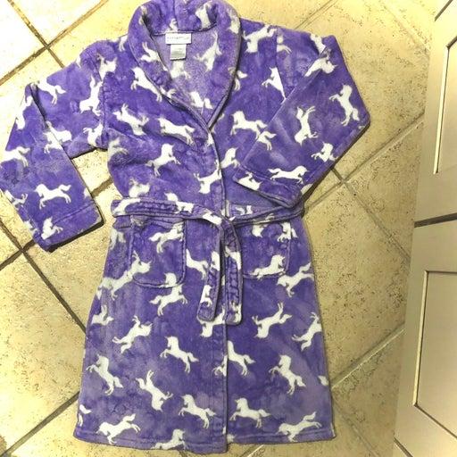 """Purple Plush Unicorn Pajamas """"cuddl duds"""" + Free PJ's, size 14"""